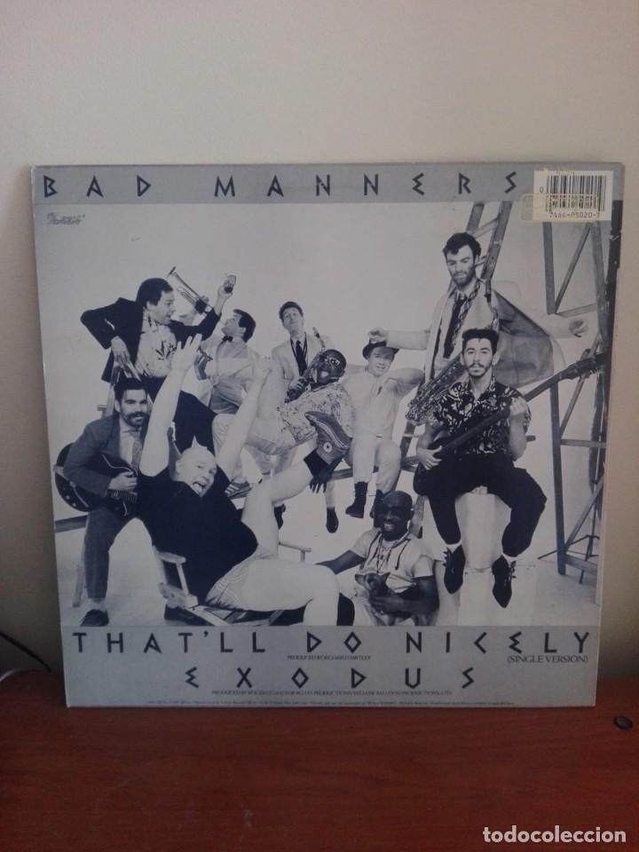 Discos de vinilo: BAD MANNERS -THAT¨LL DO NICELY (RE-MIX VERSION) -MAXI PROMOCIONAL N.4294.- EDI.AMERICANA 1984 - Foto 2 - 204136522