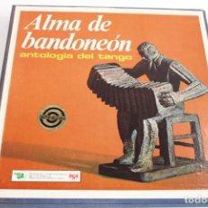 Discos de vinilo: ALMA DE BANDONEON / ANTOLOGIA DEL TANGO / ESTUCHE CON 5 LPS. Lote 204150227