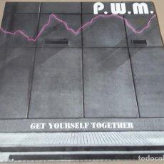 Discos de vinilo: MAXI SINGLE - P.W.M. - GET YOURSELF TOGETHER - PWM - GET YOURSELF TOGETHER. Lote 204150401