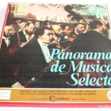 Discos de vinilo: PANORAMA DE MUSICA SELECTA 8 LP + LIBRETO. Lote 204151251