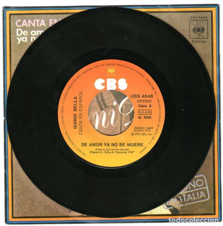 Discos de vinilo: GIANNI BELLA DE AMOR YA NO SE MUERE TE AMO - Foto 3 - 204155061