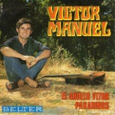 Discos de vinilo: VICTOR MANUEL EL ABUELO VITOR PAXARINOS. Lote 204155330