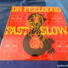 Discos de vinilo: LP CON PEQUEÑAS SEÑALES DE USO DOCTOR FEELGOOD FAST WOMEN SLOW HORSES LEVE USO ACEPTABLE. Lote 204163575