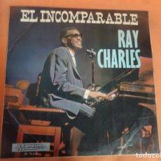 Discos de vinilo: LP - RAY CHARLES EL INCOMPARABLE , MUSIDISC, VER FOTOS. Lote 204164447