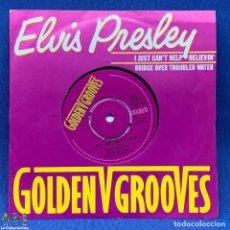 Discos de vinilo: SINGLE - ELVIS PRESLEY – I JUST CAN'T HELP BELIEVIN' / BRIDGE OVER TROUBLED WATER - LONDON - 1981. Lote 204167617