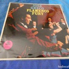 Discos de vinilo: RARO LP AMERICANO DE FLAMENCO: JOSE GRECO FLAMENCO FURY BASTANTE USO ALGO SE PUEDE OIR 1958. Lote 204167911