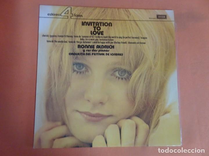 LP - RONNIE ALDRICH Y LA ORQUESTA FESTIVAL DE LONDRES - INVITATION TO LOVE - DECCA, VER FOTOS (Música - Discos - LP Vinilo - Orquestas)
