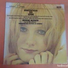 Discos de vinilo: LP - RONNIE ALDRICH Y LA ORQUESTA FESTIVAL DE LONDRES - INVITATION TO LOVE - DECCA, VER FOTOS. Lote 204168788