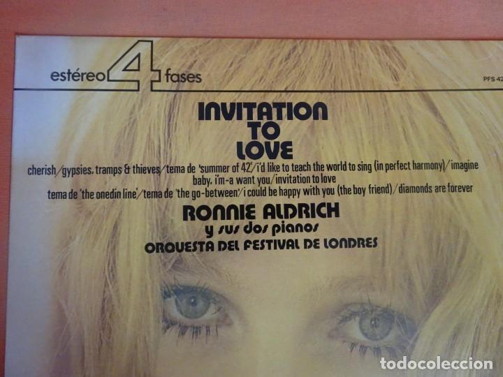 Discos de vinilo: LP - RONNIE ALDRICH Y LA ORQUESTA FESTIVAL DE LONDRES - INVITATION TO LOVE - DECCA, VER FOTOS - Foto 2 - 204168788