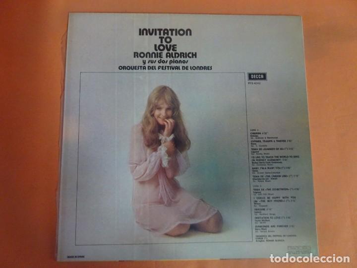 Discos de vinilo: LP - RONNIE ALDRICH Y LA ORQUESTA FESTIVAL DE LONDRES - INVITATION TO LOVE - DECCA, VER FOTOS - Foto 3 - 204168788