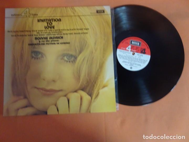 Discos de vinilo: LP - RONNIE ALDRICH Y LA ORQUESTA FESTIVAL DE LONDRES - INVITATION TO LOVE - DECCA, VER FOTOS - Foto 5 - 204168788