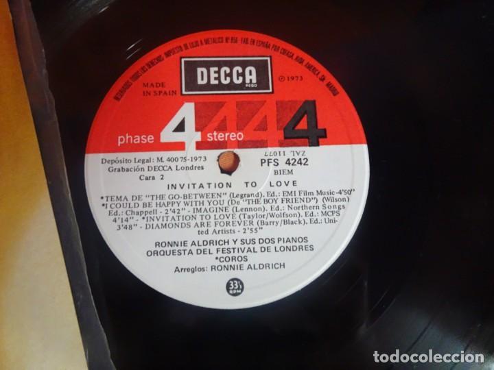 Discos de vinilo: LP - RONNIE ALDRICH Y LA ORQUESTA FESTIVAL DE LONDRES - INVITATION TO LOVE - DECCA, VER FOTOS - Foto 6 - 204168788