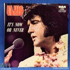 Discos de vinilo: SINGLE - ELVIS PRESLEY – IT'S NOW OR NEVER - AUSTRALIA - AÑO 1975. Lote 204169187