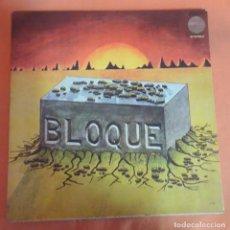 Discos de vinilo: LP, BLOQUE , 1978 CHAPA DISCOS, PORTADA ABIERTA , VER FOTOS. Lote 204171622