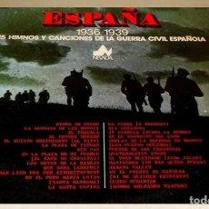 Discos de vinilo: V871 - 25 HIMNOS Y CANCIONES DE LA GUERRA CIVIL ESPAÑOLA. DOBLE LP VINILO. Lote 204174606