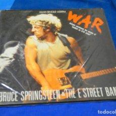 Discos de vinilo: MAXI SINGLE ESPAÑOL BRUCE SPRINGSTEEN WAR 1986 ESTADO MUY CORRECTO EN GENERAL. Lote 204184636