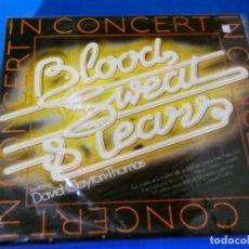 Discos de vinilo: DOBLE LP EN DIRECTO ESPAÑA 1977 BLOOD SWEAT TEARS FEAT DAVID CLAYTON BUEN ESTADO GENERAL. Lote 204187306
