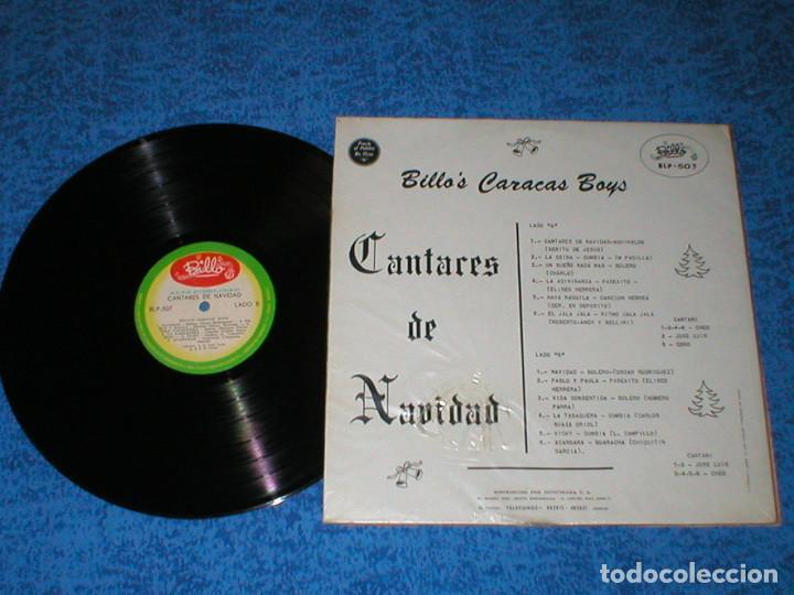 Discos de vinilo: BILLO´S CARACAS BOYS VENEZUELA LP CANTARES DE NAVIDAD ORIGINAL 1964 LATIN FOLK SALSA CUMBIA RARO Ver - Foto 2 - 226065243