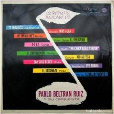 Discos de vinilo: PABLO BELTRÁN RUIZ Y SU ORQUESTA - 12 RITMOS BAILABLES - LP SPAIN 1964 - RCA VICTOR LPM 10247. Lote 204212057