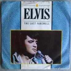 Disques de vinyle: ELVIS PRESLEY. THE LAST FAREWELL/ IT'S EASY FOR YOU. RCA, UK 1984 SINGLE. Lote 204223945