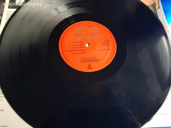 Discos de vinilo: LP-BRUCE SPRINGSTEEN-LUCKY TOWN-1992-EXCELENTE ESTADO-FUNDA-VER FOTOS - Foto 10 - 204224882