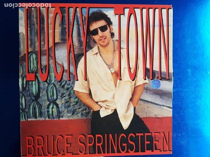 LP-BRUCE SPRINGSTEEN-LUCKY TOWN-1992-EXCELENTE ESTADO-FUNDA-VER FOTOS (Música - Discos - LP Vinilo - Cantautores Internacionales)