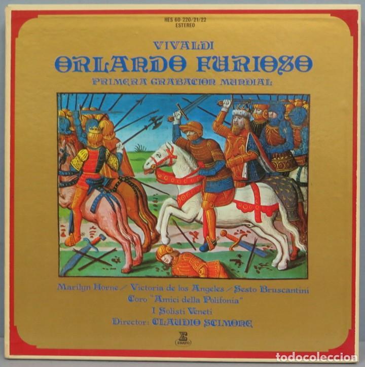 CAJA LP. VIVALDI. ORLANDO FURIOSO (Música - Discos - LP Vinilo - Clásica, Ópera, Zarzuela y Marchas)