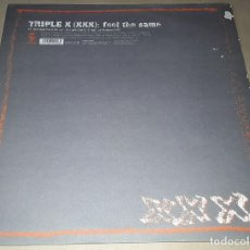 Discos de vinilo: MAXI SINGLE - TRIPLE X - FEEL THE SAME - TRIPLE X ( XXX ) - FEEL THE SAME / LA MUSIQUE. Lote 204240033