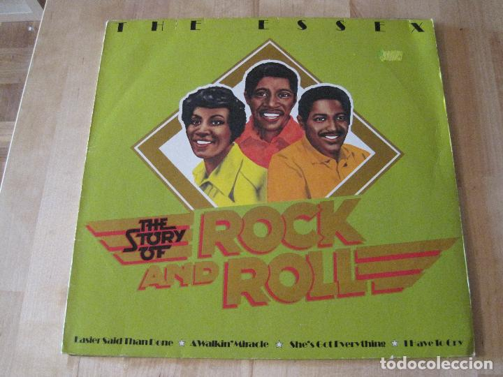 LP THE ESSEX THE STORY OF ROCK & ROLL ROULETTE DOO WOP, usado segunda mano