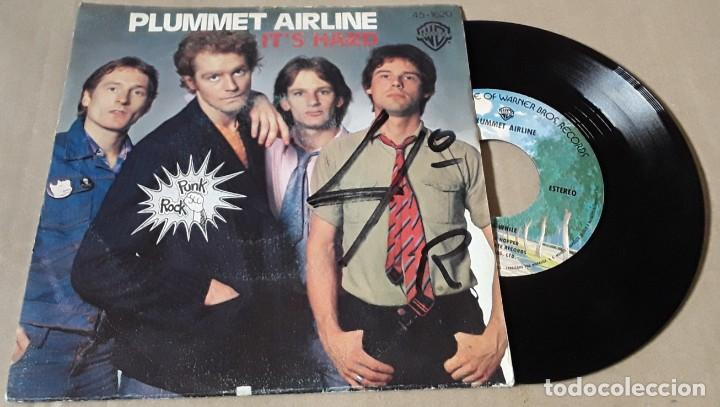 SINGLE- PLUMMET AIRLINE - IT HARD / MY TIME IN A WHILE - PLUMMET AIRLINE (Música - Discos - Singles Vinilo - Punk - Hard Core)