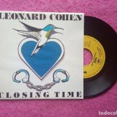 Discos de vinilo: SINGLE LEONARD COHEN - CLOSING TIME - ARIC 172 - SPAIN PRESS PROMO 1 SIDED (NM/NM). Lote 204322738