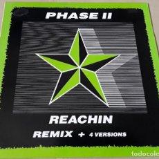 Discos de vinilo: MAXI SINGLE - PHASE II - REACHIN - PHASE II - THE SHY BOYS. Lote 204323521