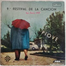 Discos de vinilo: DISCO DE VINILO EP FESTIVAL DE LA CANCION SAN REMO 1.959. Lote 204324122