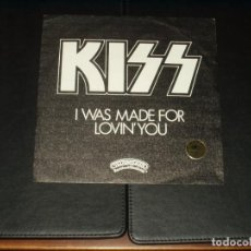 Discos de vinilo: KISS SINGLE I WAS MADE FOR LOVIN' YOU. Lote 204324662