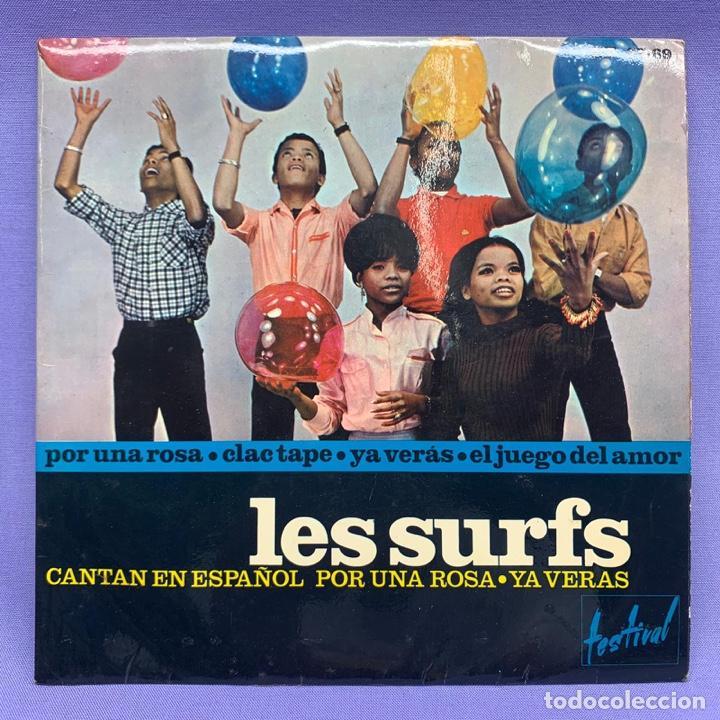 SINGLE LES SURFS CANTANTE EN ESPAÑOL POR UNA ROSA- YA VERÁS (Música - Discos - Singles Vinilo - Solistas Españoles de los 50 y 60)