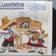Discos de vinilo: LP. VILLANCICOS CON ZAMBOMBA Y PANDERETA. Lote 204334941