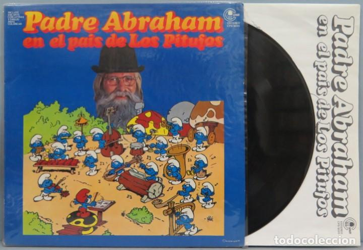 LP. PADRE ABRAHAM. EN EL PAIS DE LOS PITUFOS (Música - Discos de Vinilo - Maxi Singles - Música Infantil)