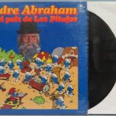 Discos de vinilo: LP. PADRE ABRAHAM. EN EL PAIS DE LOS PITUFOS. Lote 204340988