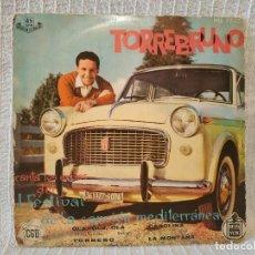 Discos de vinilo: TORREBRUNO - CANTA LOS EXITOS DEL I FESTIVAL DE LA CANCION MEDITERRANEA - EP AÑO 1959. Lote 118504691