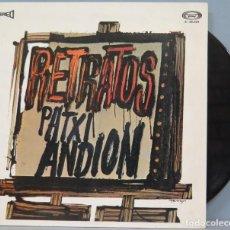Discos de vinilo: LP. RETRATOS. PATXI ANDION. Lote 204346926
