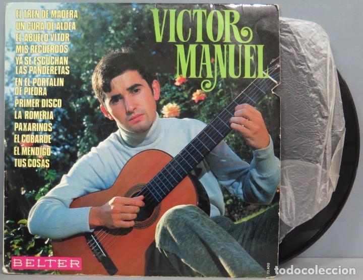 LP. VICTOR MANUEL. EL TREN DE MADERA (Música - Discos - LP Vinilo - Cantautores Españoles)