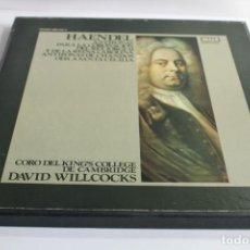 Discos de vinilo: HAENDEL.ANTÍFONAS PARA CORONACIÓN JORGE II Y CAROLINA. ANTÍFONAS CHANDOS. ODA STA.CECILIA. Lote 204353005