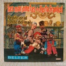 Discos de vinilo: LAS MARIONETAS DE HERTA FRANKEL - PEPITO EN EL FONDO DEL MAR - SINGLE PORTADA DOBLE + LIBRITO EX. Lote 260468230