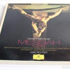 Discos de vinilo: HAENDEL / EL MESIAS / KARL RICHTER. Lote 204354373