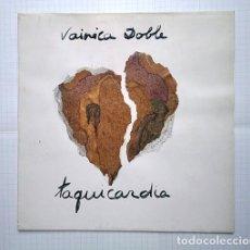 Discos de vinilo: VAINICA DOBLE · CARMEN SANTONJA. CARPETA-COLLAGE TAQUICARDIA, FIRMADA + ÁLBUM DOBLE COMPLETO 1ª ED. Lote 204356257