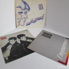Discos de vinilo: GRAN LOTE 3 MAXI SINGLES DISCOS VINILOS WHAM / BAD BOYS / WHAM RAP / I'M YOUR MAN BUEN ESTADO. Lote 204357333