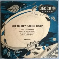Discos de vinilo: KEN COLYER'S SKIFFLE GROUP. TAKE IS HAMMER/ DOWN BY THE RIVERSIDE/ GO DOWN OLD HANNAH/ STREAMLINE EP. Lote 204364561