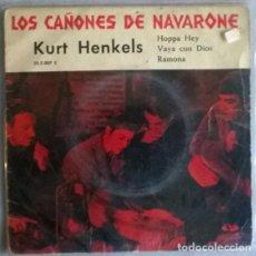 Discos de vinilo: KURT HENKELS. LOS CAÑONES DE NAVARONE/ HOPPA HEY/ VAYA CON DIOS/ RAMONA. VERGARA, GERMANY 1961 EP. Lote 204366435