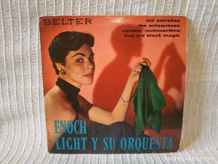ENOCH LIGHT Y SU ORQUESTA - MIL ESTRELLAS / ME ENLOQUECES / VERANO (SUMMERTIME)+1 BELTER 50.287 1960 (Música - Discos de Vinilo - EPs - Orquestas)