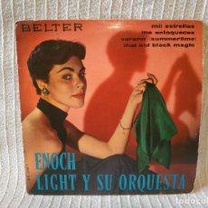 Discos de vinilo: ENOCH LIGHT Y SU ORQUESTA - MIL ESTRELLAS / ME ENLOQUECES / VERANO (SUMMERTIME)+1 BELTER 50.287 1960. Lote 204376253